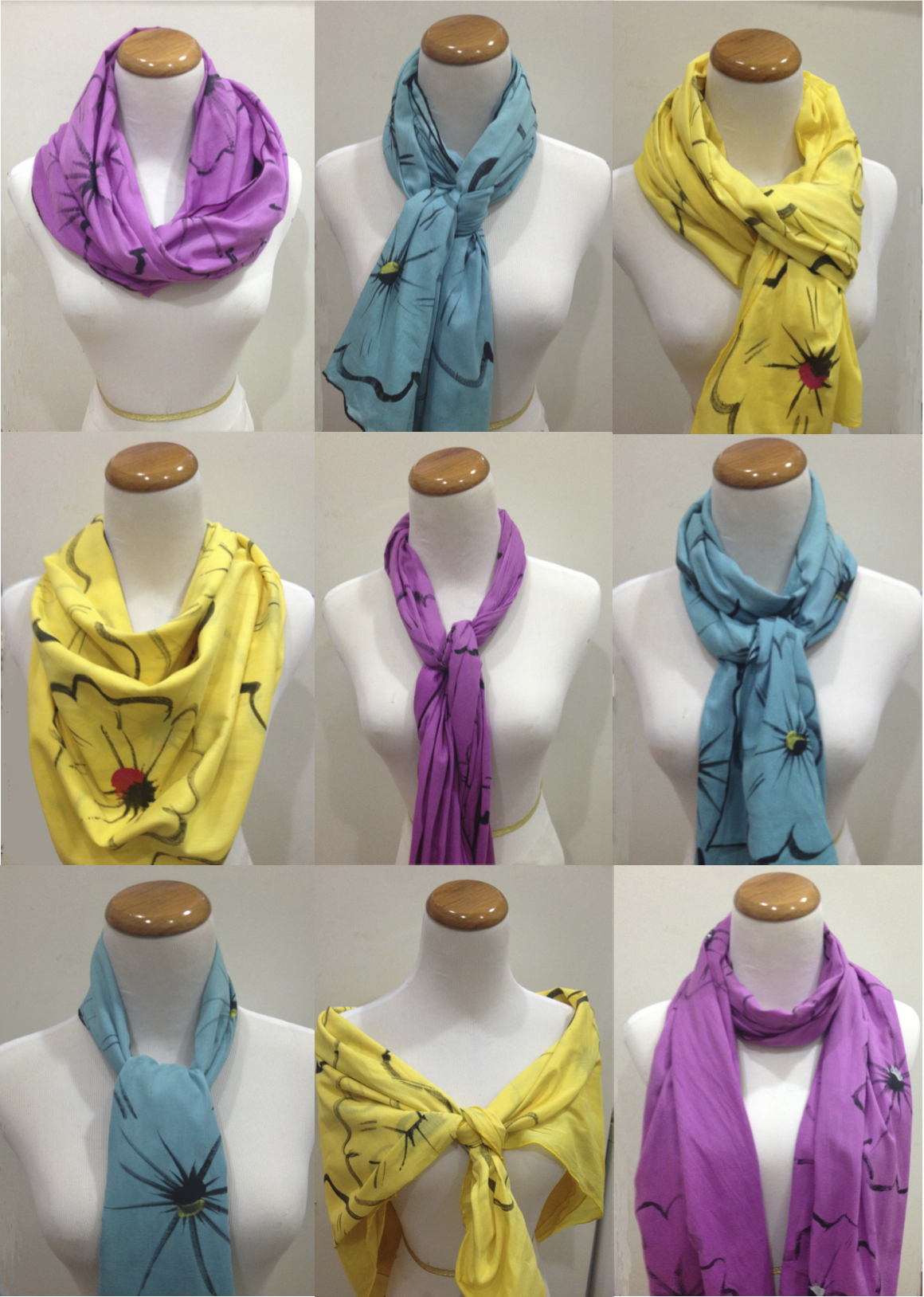 Ways To Read Tarot Cards: 9 Different Ways To Tie A PBE Hope Flower Scarf
