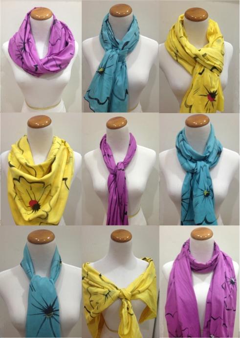 9 ways to tie a PBE scarf