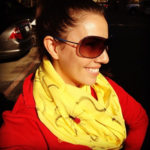 The PBE scarf yellow